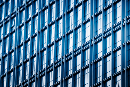 background of the glass modern office building Stock Photo