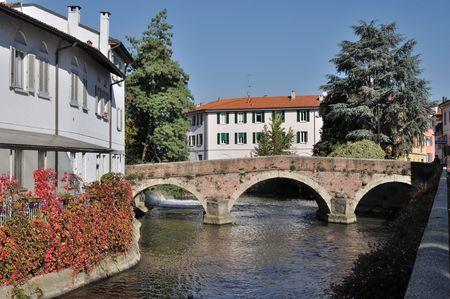 bridge over lambretto, monza Stock Photo