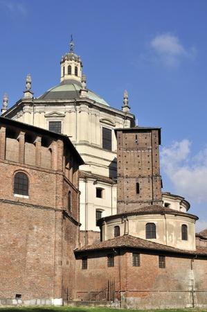 san lorenzo south back side, milano Stock Photo