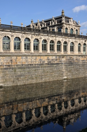 moat at zwinger, dresden Stock Photo