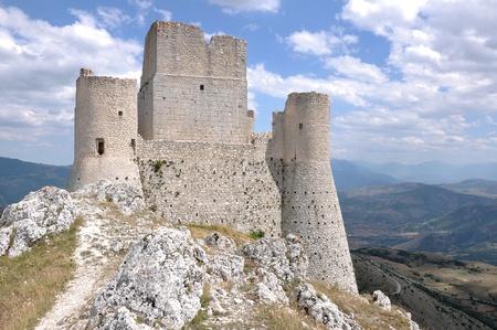 ruins of rocca calascio fortress, abruzzi  photo