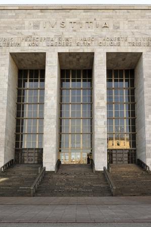 law courts entrance, milan