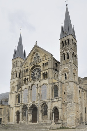 st remi  facade, reims Stock Photo