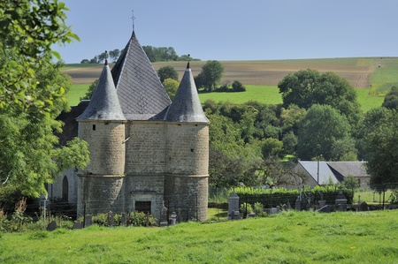 st etienne fortified church, sernion, ardennes photo