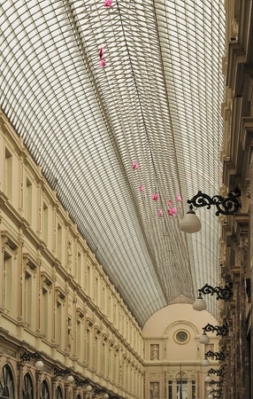 foreshortening: roof of galeries st hubert, brussels
