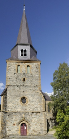 leger: st leger chuch, montherme Stock Photo
