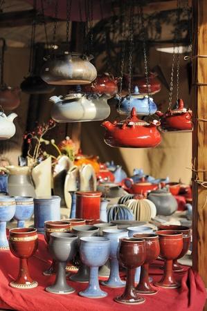 pottery at medieval market, esslingen Stock Photo - 11572985