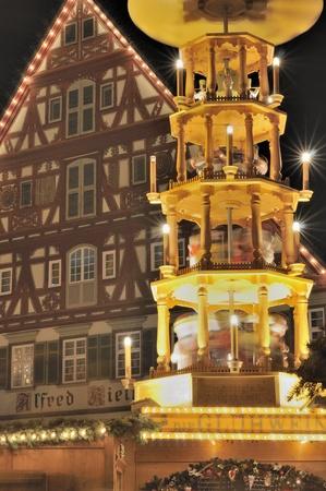 tower stall at christmas market, esslingen Stock Photo - 11565060