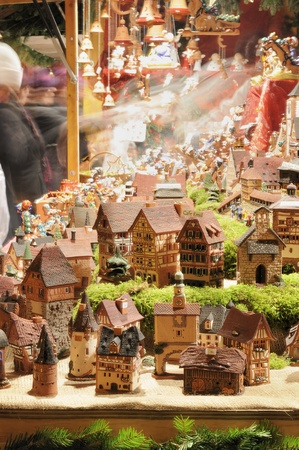 tiny houses at christmas market, esslingen photo