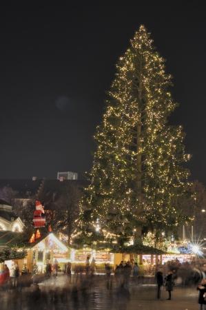 stuttgart: christmas tree at market, stuttgart Stock Photo