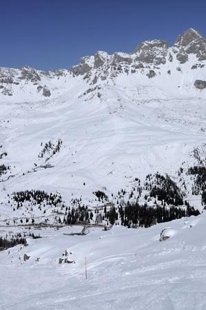 cima uomo ski run, col margherita Stock Photo - 12841712