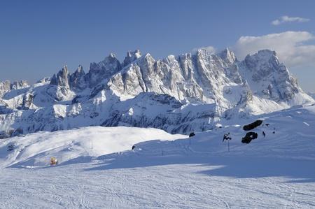 Pale range and ski-run, dolomites photo