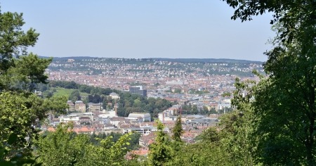 panoramic view from Schiller eiche, Stuttgart photo