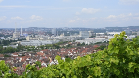 industrial settlements and vineyards, Stuttgart , Germany