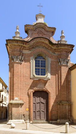 Holy Lucia Church, Alessandria, Italy  view of the little old church in city historical center
