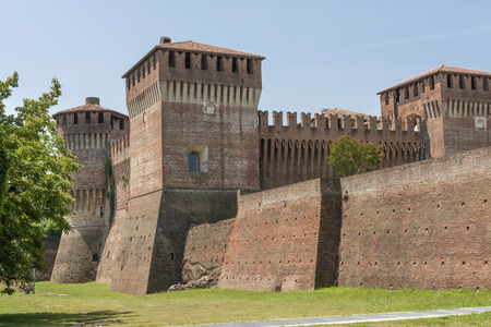 sforzesco: view of the  ancient Sforzesco Castle from south east, shot in bright summer light Editorial