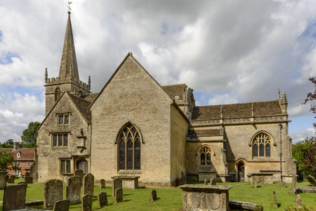Church from south east , Lacock, view from south east of the ancient church of historic touristic village of Wiltshire