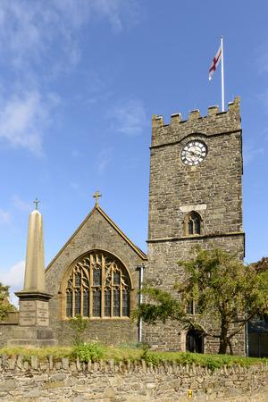 lynton: Lynton church , Devon, view of ancient  stone church in small village of Exmoor region Stock Photo