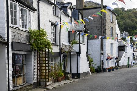 Verkurzung Des Alten Dorf An Der Nordkuste Von Cornwall Mit Alten