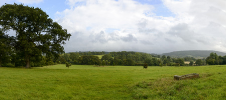 Dorset countryside near Yeovil, landscape with  grass fields of hilly Dorset countryside