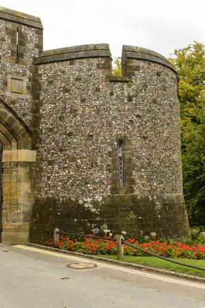west sussex: Arundel castle round dungeon, West Sussex, detail of stone dungeon at medieval castle, Arundel , West Sussex
