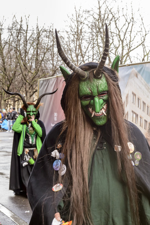 green devils at Carnival parade, Stuttgart