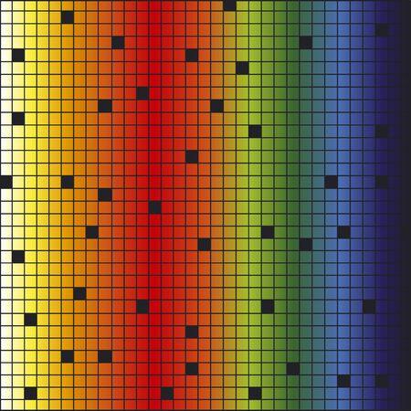colored rainbow background, mosaic