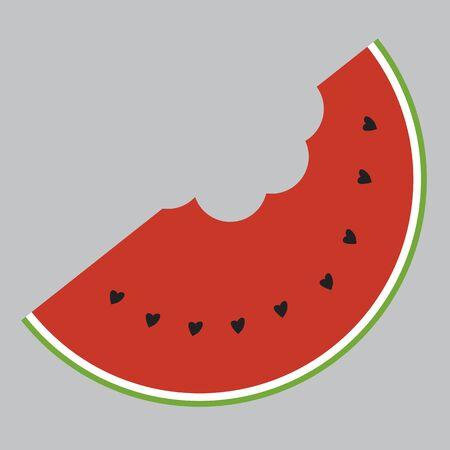 slice of watermelon, stylized illustration
