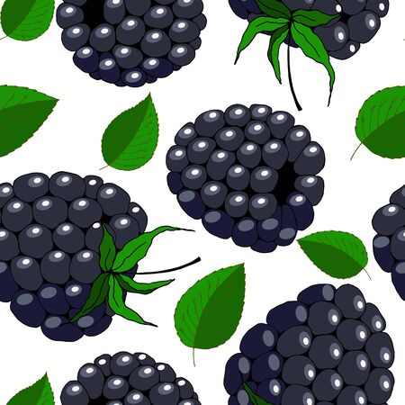 seamless pattern with ripe berries Vector Illustratie