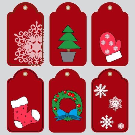 New Year's tags for gifts, tags