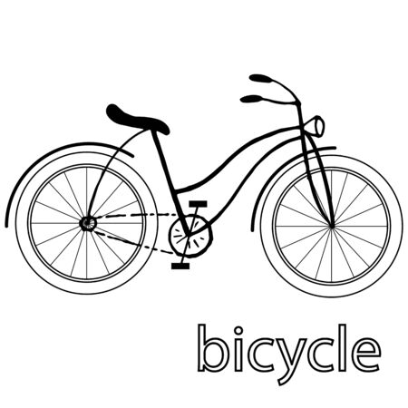 graphic drawing of a bicycle