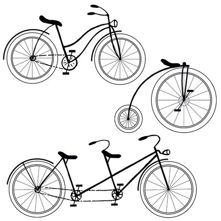 graphic drawing, bike set