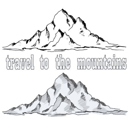 graphic drawing of a high mountain