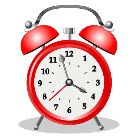 image of the alarm clock, retro clock, isolate on a white background, vector illustration
