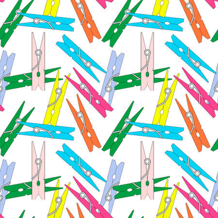 clothespins, seamless pattern, ornament for wallpaper and fabric, scrapbooking paper, background for different designs