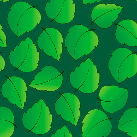 seamless pattern with green leaves, ornament for wallpaper and fabric, background for scrapbooking, wrapping paper