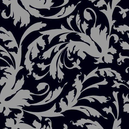seamless pattern in classic style, isolate on a white background, baroque ornament