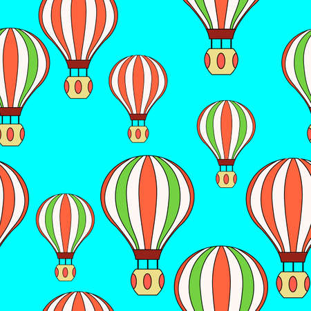 seamless pattern with balloons, colored ornament for wallpaper Ilustrace