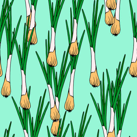 seamless pattern, vector stock illustration, green bow, for menu design, wallpaper ornament