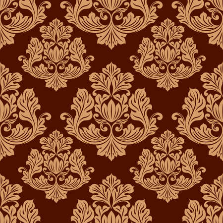 seamless pattern, damask floral pattern, wallpaper ornament, wrapping paper, scrapbooking