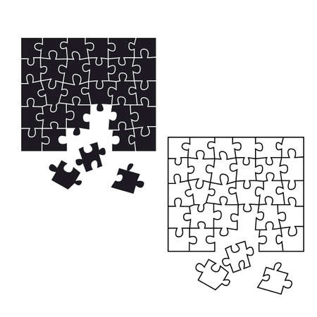 vector illustration, board game, Linear drawing in black and white