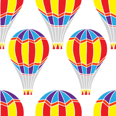 Seamless pattern, vector illustration, balloons, background for wallpaper and fabric, wrapping paper