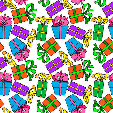 seamless pattern, vector illustrations, colorful gift pattern images, wallpaper ornament, wrapping paper, scrapbooking
