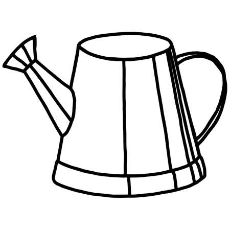 Doodle style cup, simple vector illustration, tableware element, for design, black linear drawing, isolate on a white background Иллюстрация