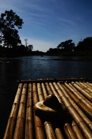 pacification: Serenity midstream Stock Photo