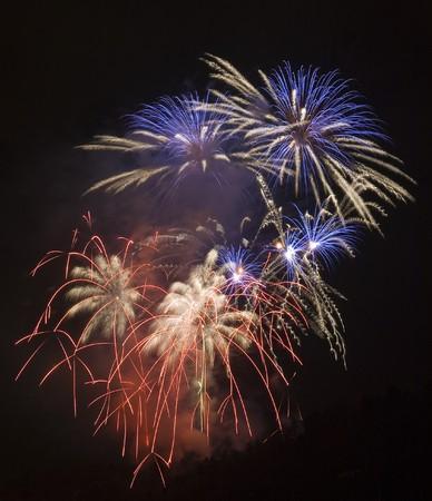 artifice: New Year  firework in Prague,Czech Republic