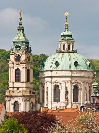 St. Nicolas church,Prague,Czech Republic Stock Photo