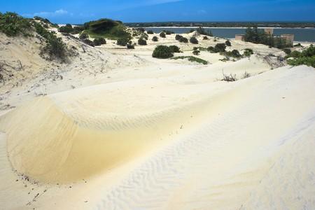 Sand dunes on Lamu island,eastern Kenya