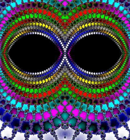 Colorful magic eyes fractal Stock Photo
