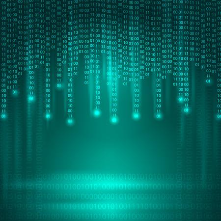 Strom von binären Code. Illustration